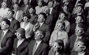 People put on glasses to watch stories rather than to battle illiteracy.